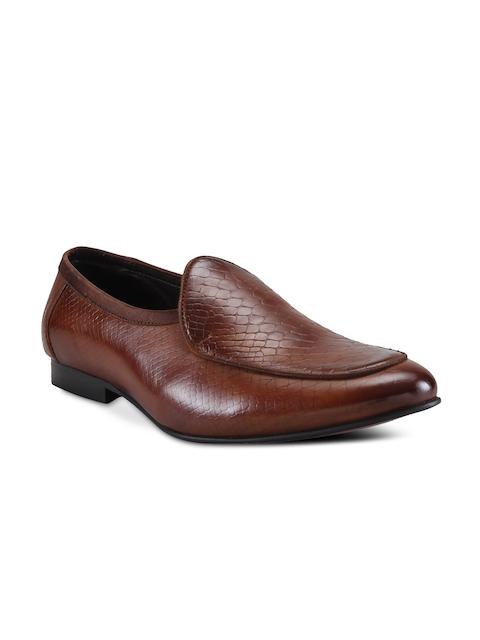Franco Leone Men Tan Brown Formal Shoes