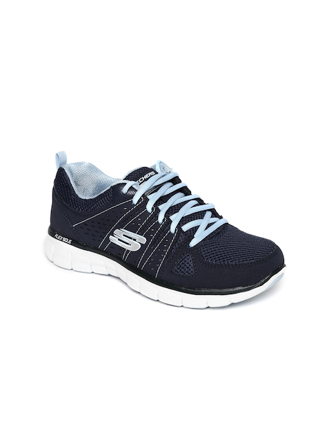 Skechers Women Navy Synergy Sneakers