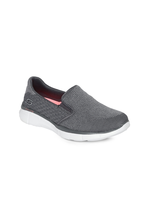Skechers Women Grey Slip On Sneakers