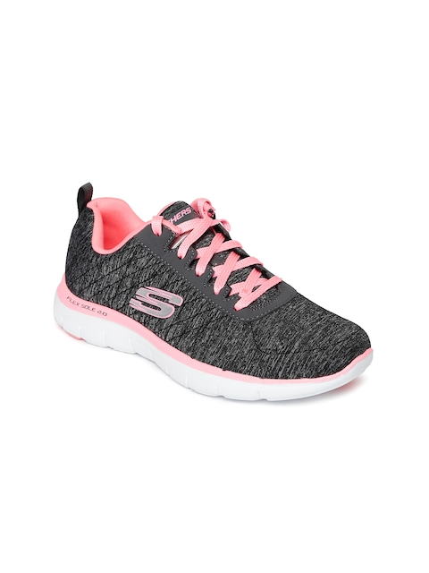 Skechers Women Charcoal Grey Flex Appeal 2.0 Sneakers