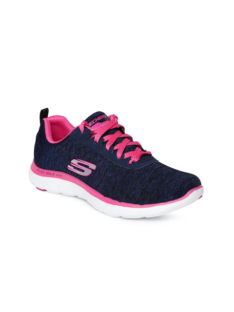 Skechers Women Navy Flex Appeal 2.0 Sneakers