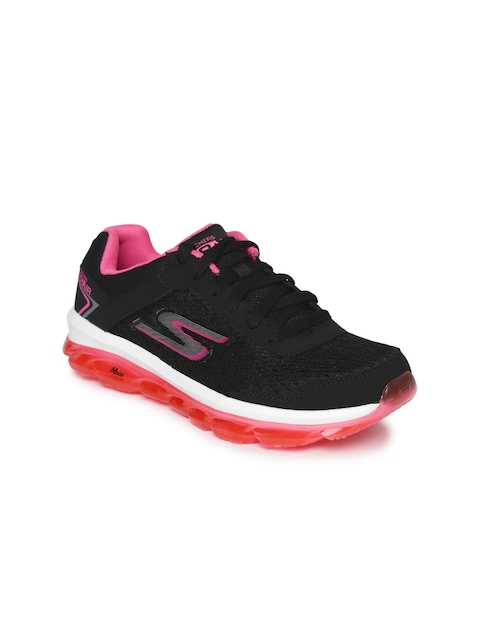 Skechers Women Black Go Air Sneakers