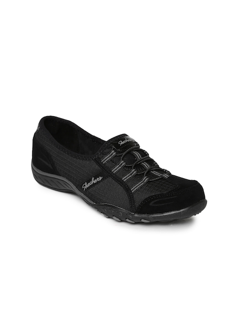 Skechers Women Black Breathe-Easy Lovestory Slip-On Sneakers