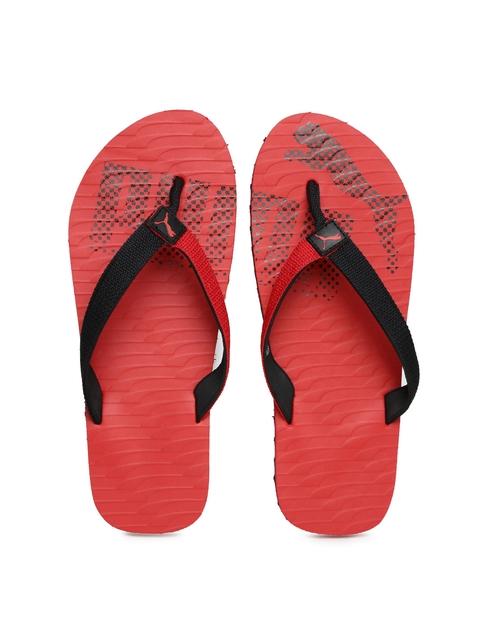 PUMA Unisex Red & Black Miami Fashion II DP Flip-Flops