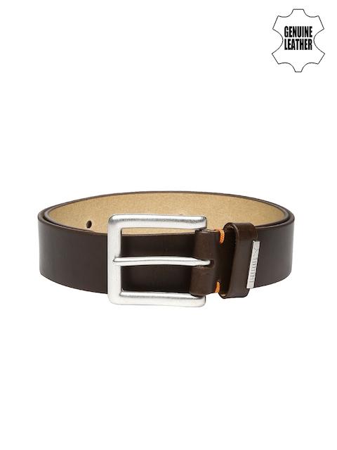 PUMA Men Brown Louis Bridle Genuine Leather Belt