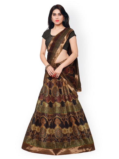 Saree mall Multicoloured Printed Semi-Stitched Lehenga Choli with Dupatta  available at myntra for Rs.4517