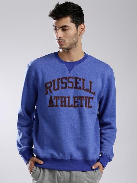 Russell Athletic Blue Appliqué Detail Sweatshirt
