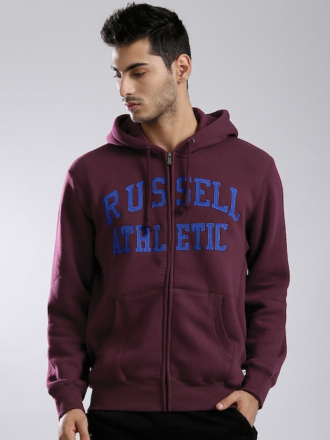 Russell Athletic Burgundy Hooded Sweatshirt