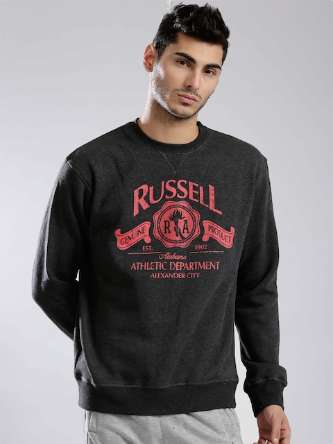 Russell Athletic Charcoal Grey Printed Sweatshirt