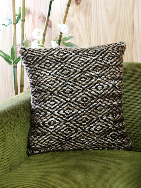 MASPAR Beige Single Patterned 18 x 18 Square Cushion Cover