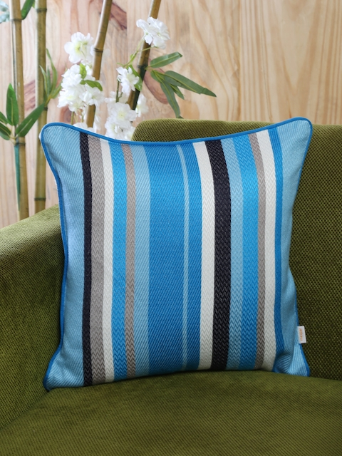 MASPAR Blue Single Patterned 18 X 18 Square Cushion Cover