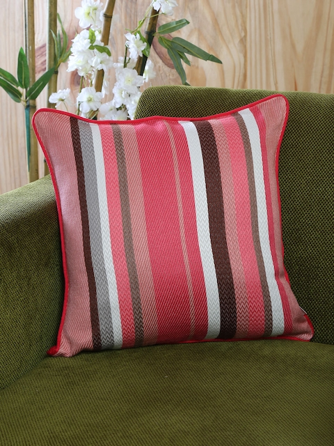 MASPAR Pink Single Patterned 16 X 16 Square Cushion Cover