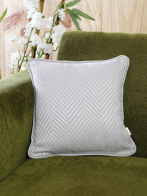 MASPAR Blue Single Woven 12 x 12 Square Cushion Cover