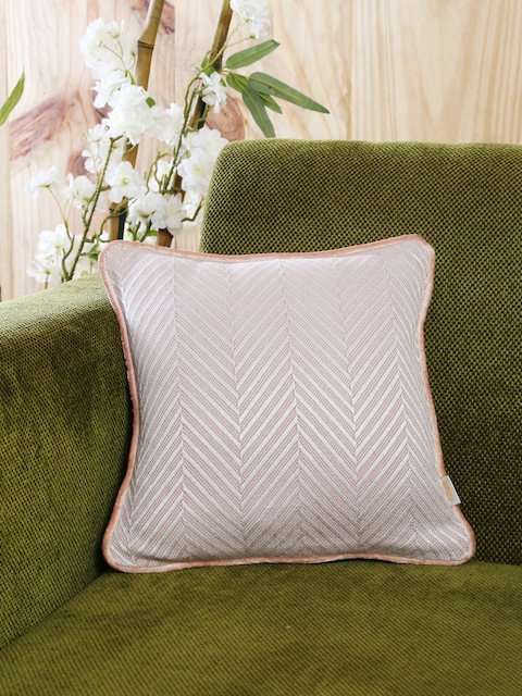 MASPAR Pink Single Woven 12 x 12 Square Cushion Cover