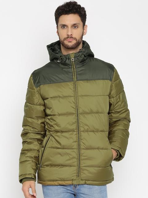 SELA Olive Green Padded Hooded Jacket