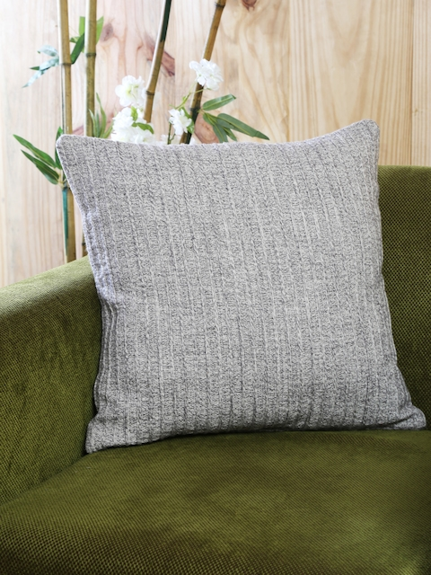 MASPAR Beige Single Woven 18 x 18 Square Cushion Cover