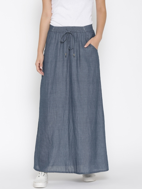 Vero Moda Blue Maxi Skirt