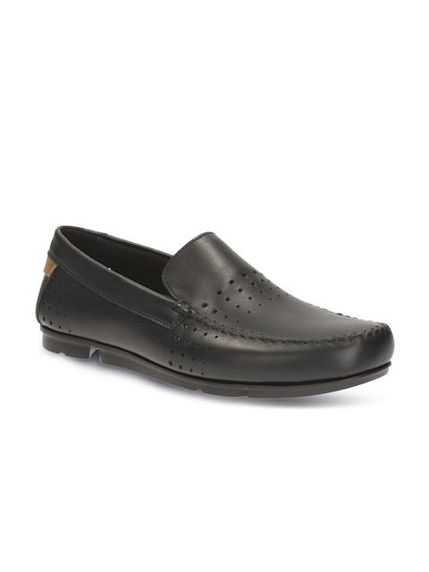 Clarks Men Black Solid Regular Loafers