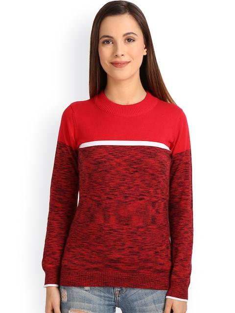Manola Women Red Self-design Sweater