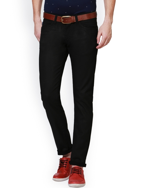Allen Solly Men Black Mid-Rise Clean Look Jeans