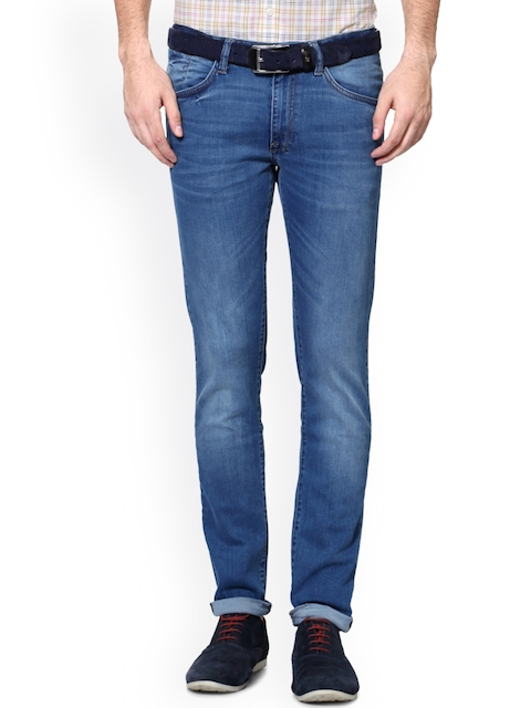 Allen Solly Men Blue Skinny Fit Low-Rise Clean Look Jeans