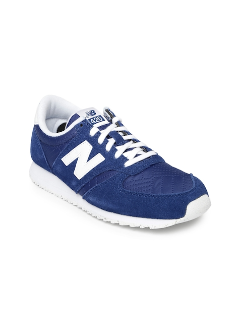 New Balance Women Navy Blue Suede Sneakers WL420NPE