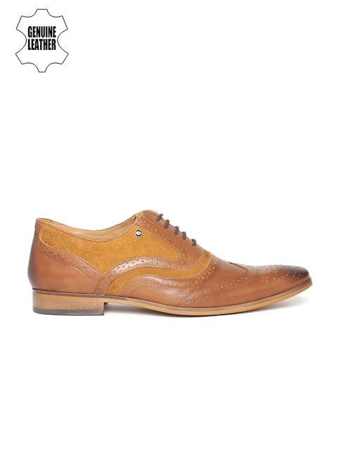 INVICTUS Men Tan Brown Leather Brogues