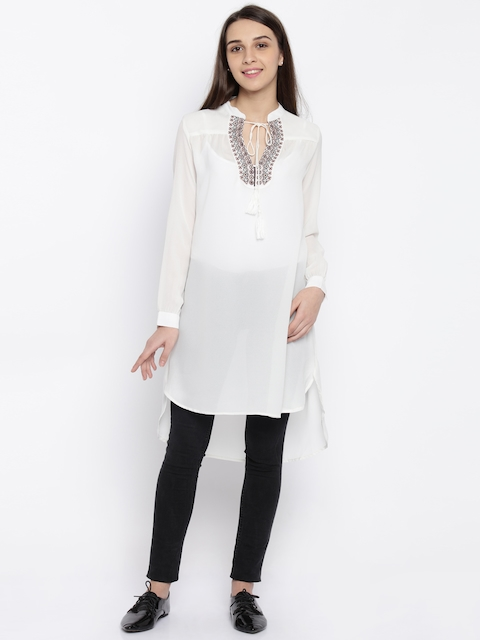 Park Avenue White Sheer Tunic