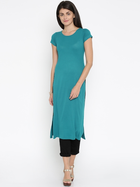 AND by Anita Dongre Teal Blue Maxi Top