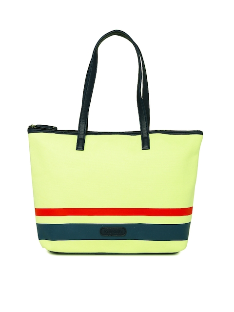 Caprese Yellow Striped Shoulder Bag  available at myntra for Rs.1154