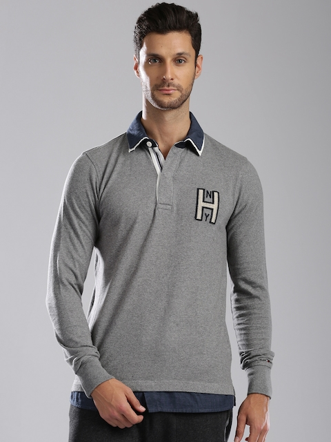 Tommy Hilfiger Grey Melange Vintage Fit Polo T-shirt
