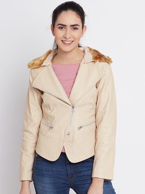 Fort Collins Beige Faux Leather Jacket