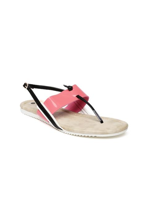 Inc 5 Women Pink & Black Solid Flats