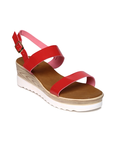 Inc 5 Women Red Solid Wedges