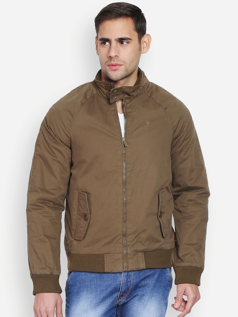 Peter England Casuals Brown Rider Jacket