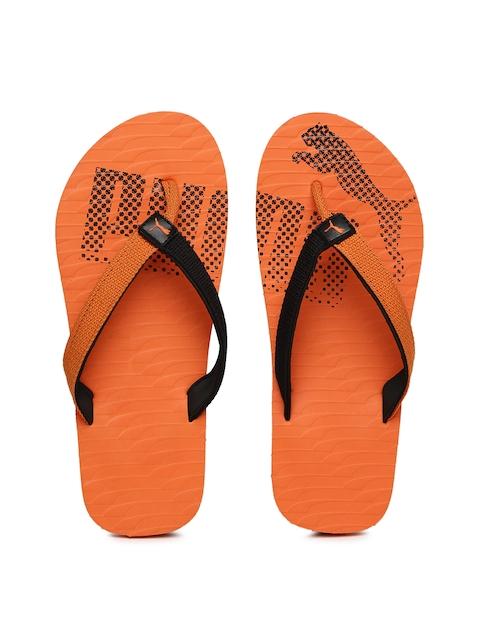 Puma Unisex Orange & Black Miami Fashion II IDP Colourblocked Flip-Flops  available at myntra for Rs.359