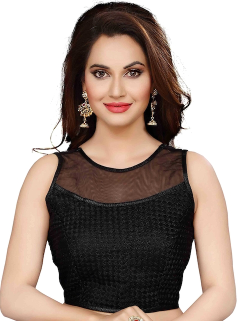 Ishin Black Brocade Saree Blouse