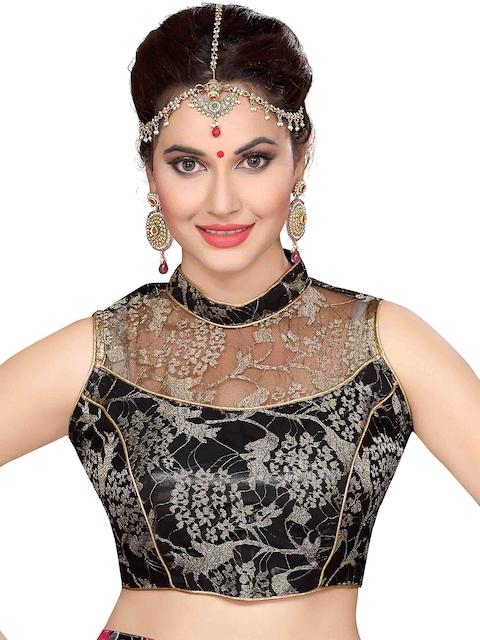 Ishin Black Saree Blouse