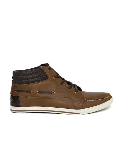 ALDO Men Brown Mid-Top Sneakers