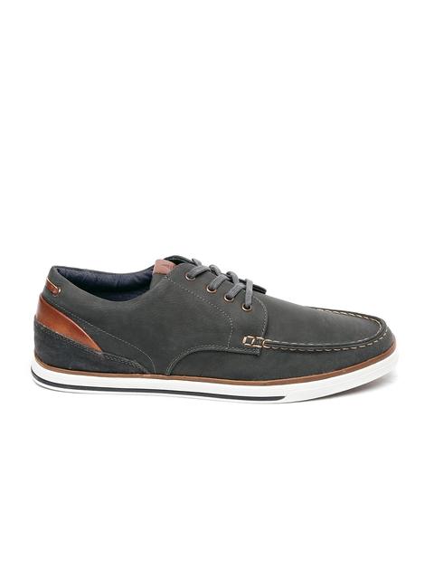 ALDO Men Grey Nawiel Leather Sneakers