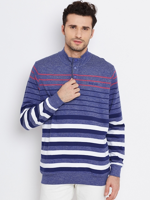 Monte Carlo Blue & White Striped Sweatshirt