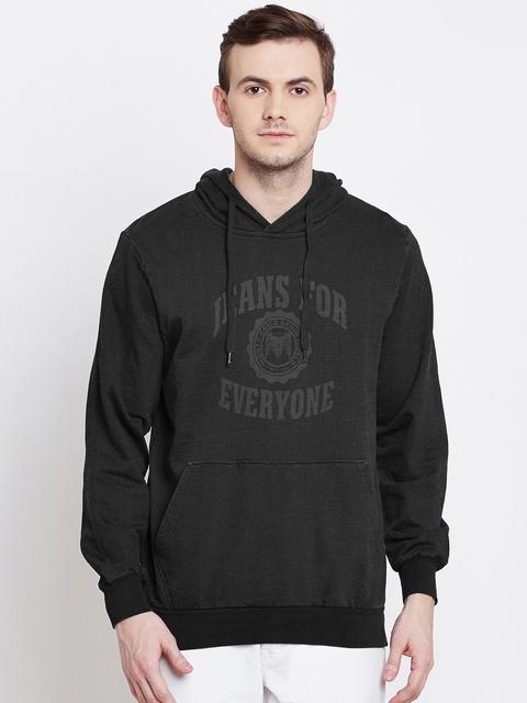Monte Carlo Black Printed Hooded Sweatshirt