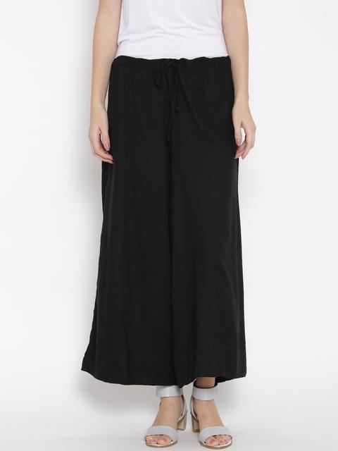 Biba Women Black Palazzo Trousers