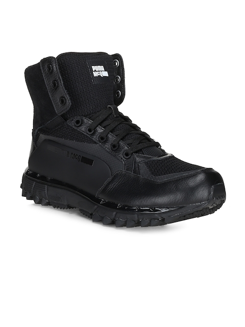 Puma Men Black Solid Mid-Top MCQ CELL Sneakers