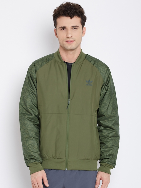 Adidas Originals Olive Green SP LUXE Printed Bomber Jacket