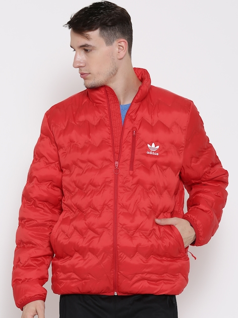 Adidas Originals Red Serrated Quilted Jacket