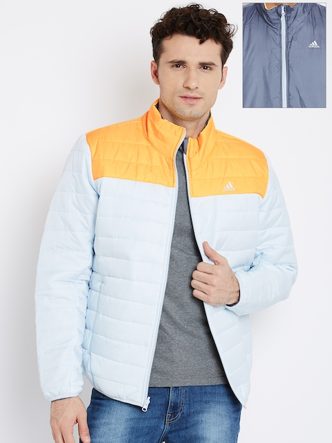 Adidas Blue & Grey WNTOFF Reversible Quilted Jacket