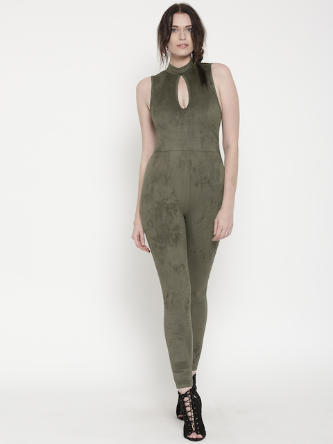 FOREVER  21 Olive Green Jumpsuit