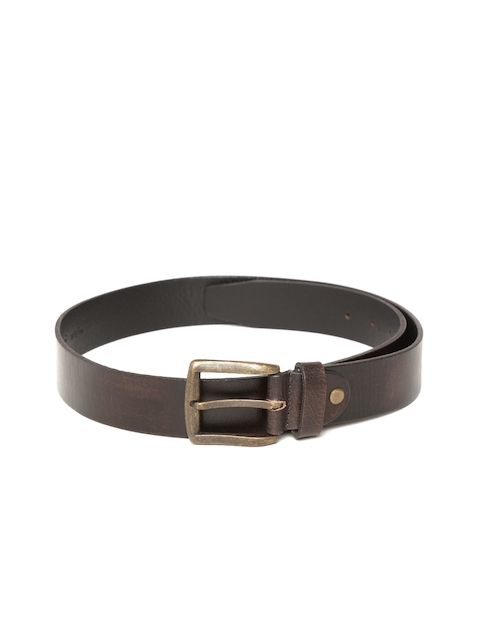 Allen Solly Men Brown Leather Belt  available at myntra for Rs.909