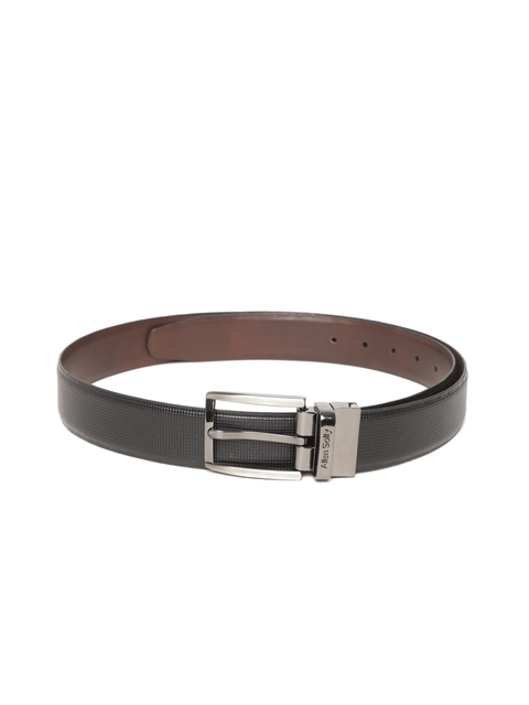 Allen Solly Men Brown & Black Reversible Leather Belt  available at myntra for Rs.899